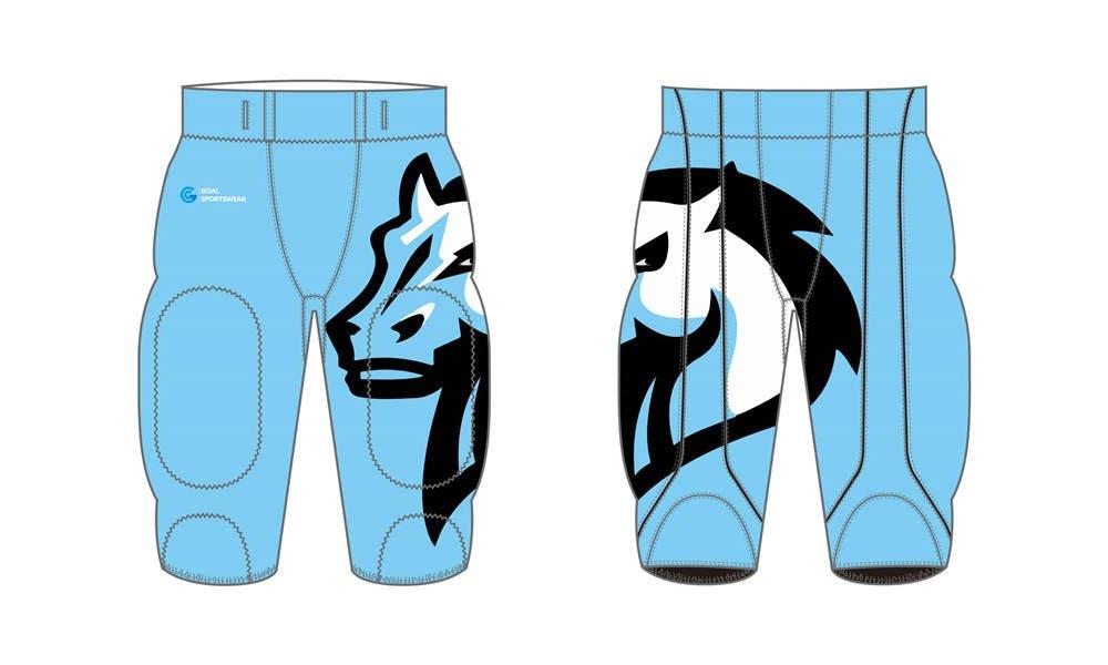 Sublimation high quality custom youth v neck Sublimated Football Pants