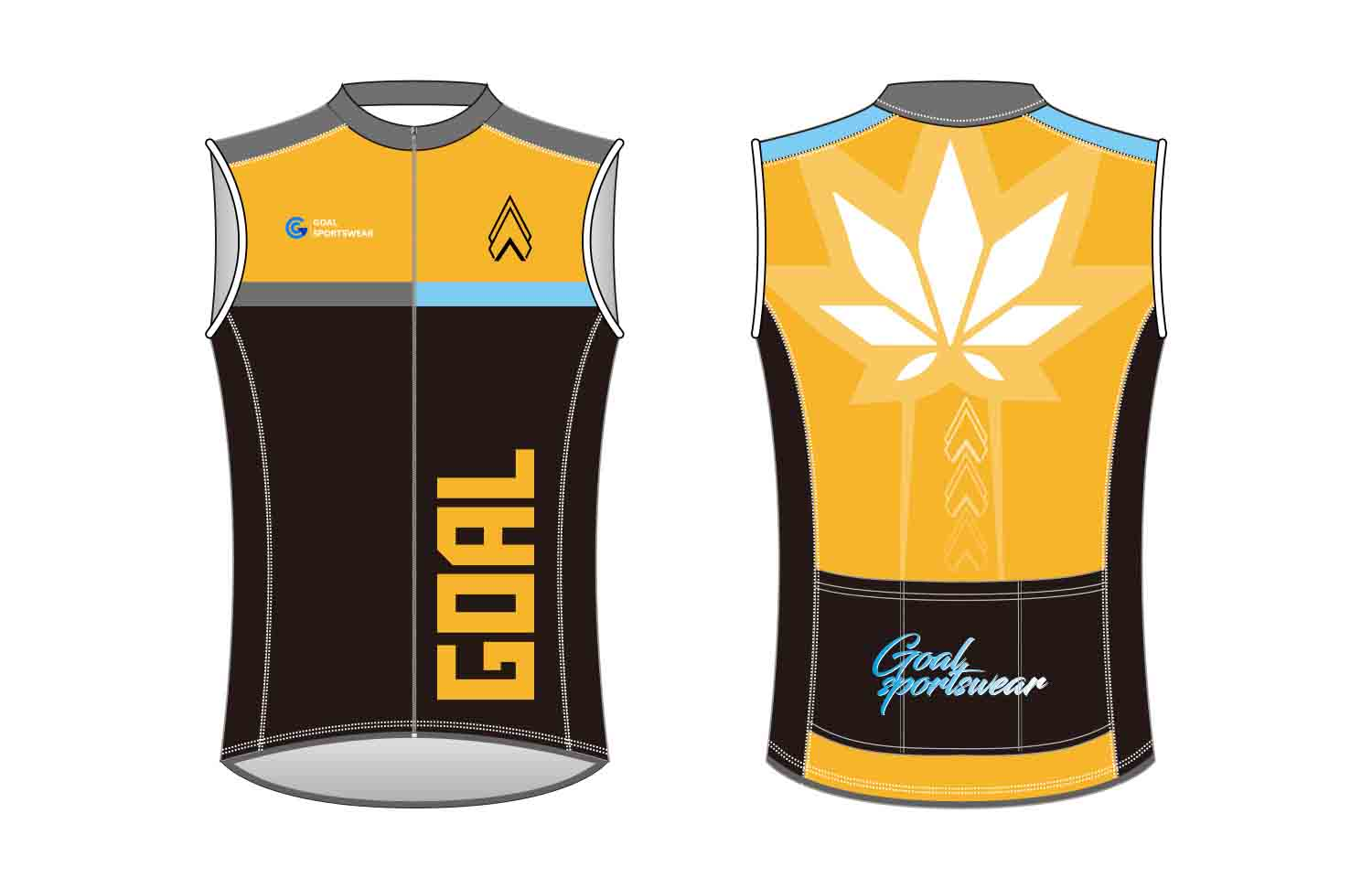 Sublimation high quality custom youth v neck custom Cycling Vest