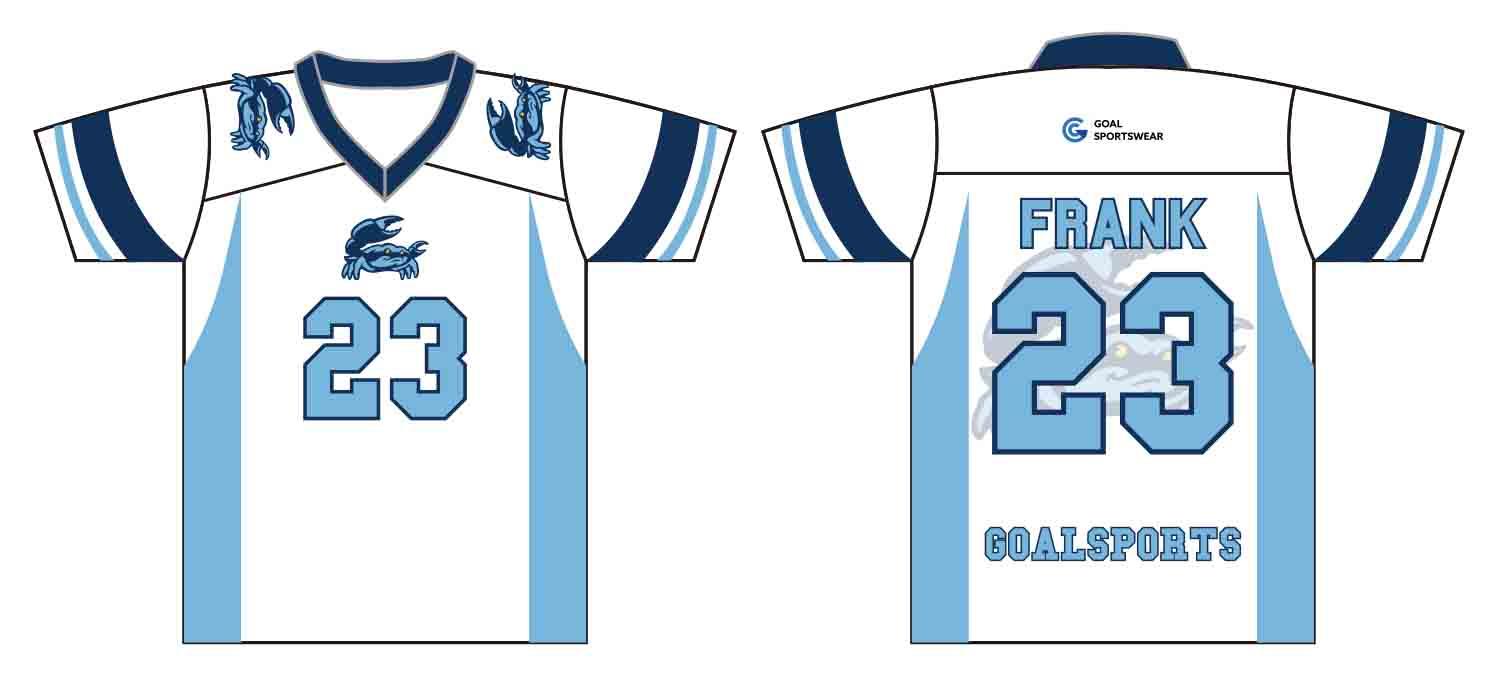 Sublimation high quality custom youth v neck Custom Lacrosse Shirts