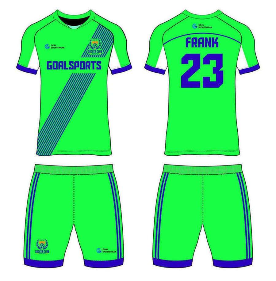 Sublimation high quality custom youth v neck custom soccer kits