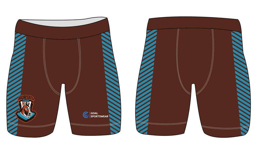 Sublimation high quality custom youth v neck custom spandex shorts