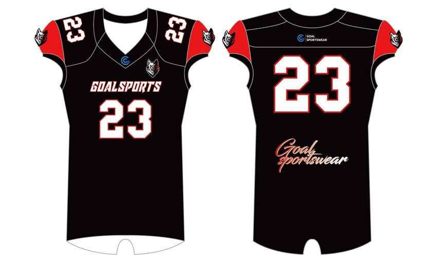 Sublimation high quality custom youth v neck high school football shirts