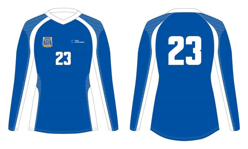 Sublimation high quality custom youth v neck sublimated volleyball jerseys