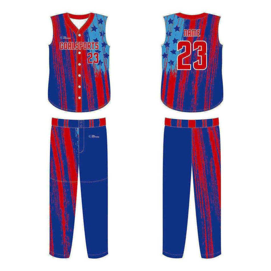 Sublimation printing 100% polyester dry fit custom Custom Sleeveless Baseball Jerseys