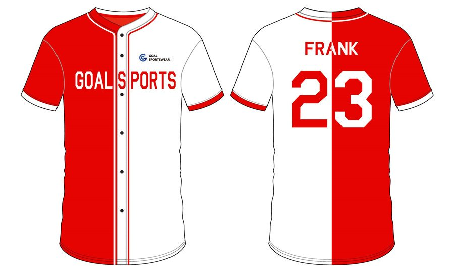 Sublimation printing 100% polyester dry fit custom Full Button Baseball Jerseys