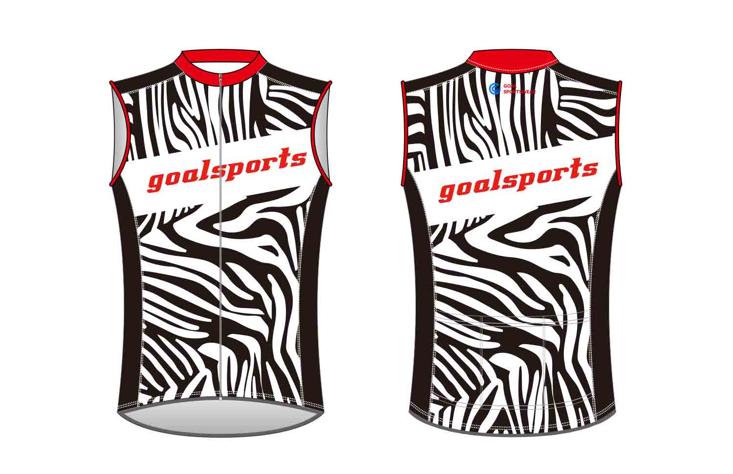 Sublimation printing 100% polyester dry fit custom custom Cycling Vest