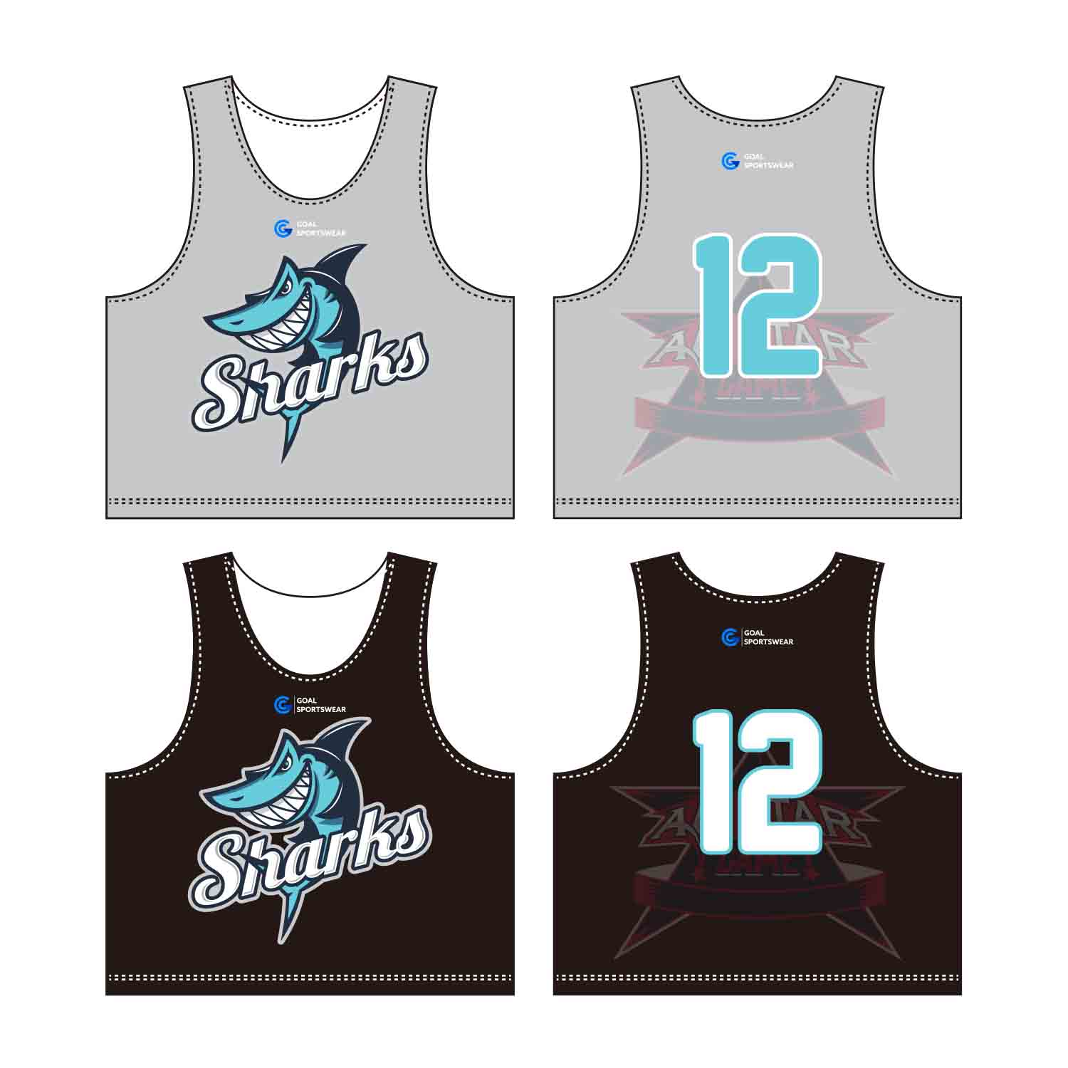 Sublimation Printing 100% Polyester Dry Fit Custom Lacrosse Pinnies