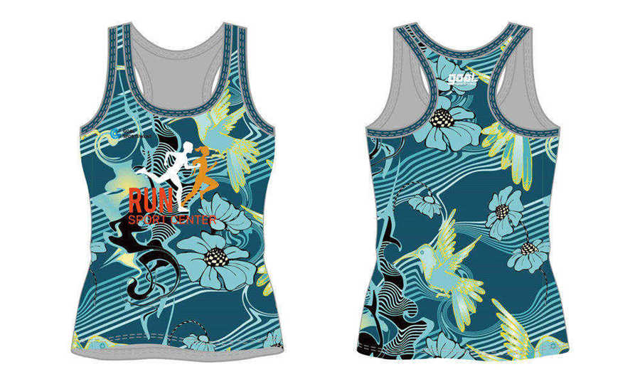 Sublimation printing 100% polyester dry fit custom sublimated running shirts