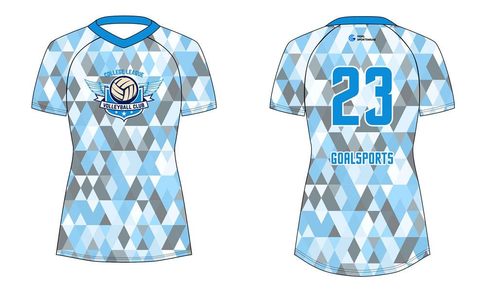 Sublimation printing 100% polyester dry fit custom sublimated volleyball jerseys