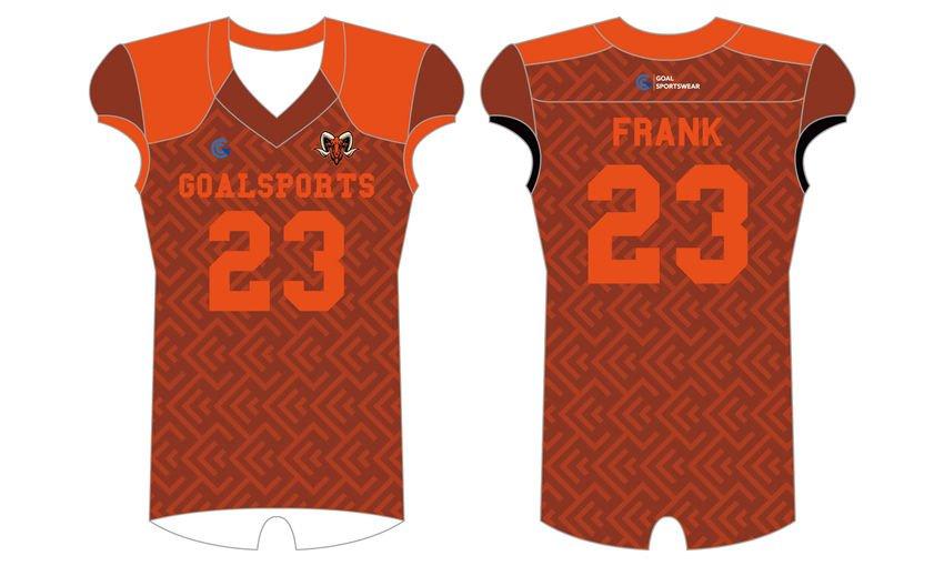 Wholesale high quality sublimation custom team high school football shirts