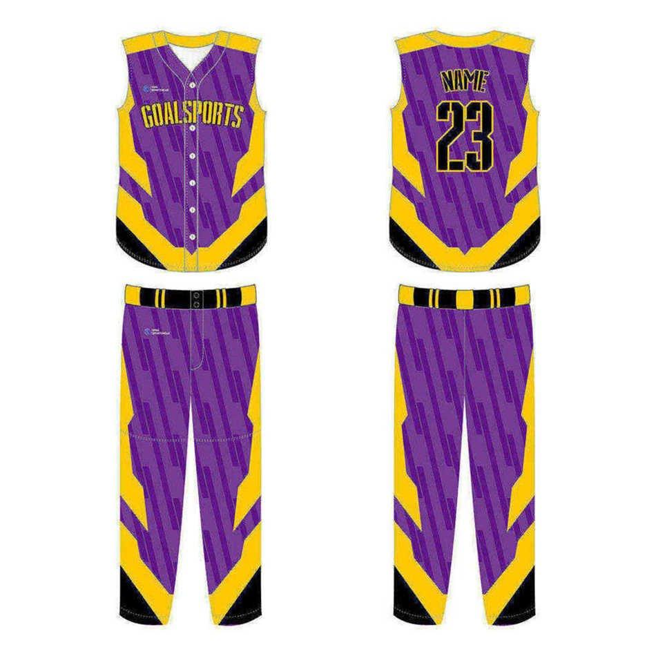 Wholesale high quality sublimation printing custom Custom Sleeveless Baseball Jerseys