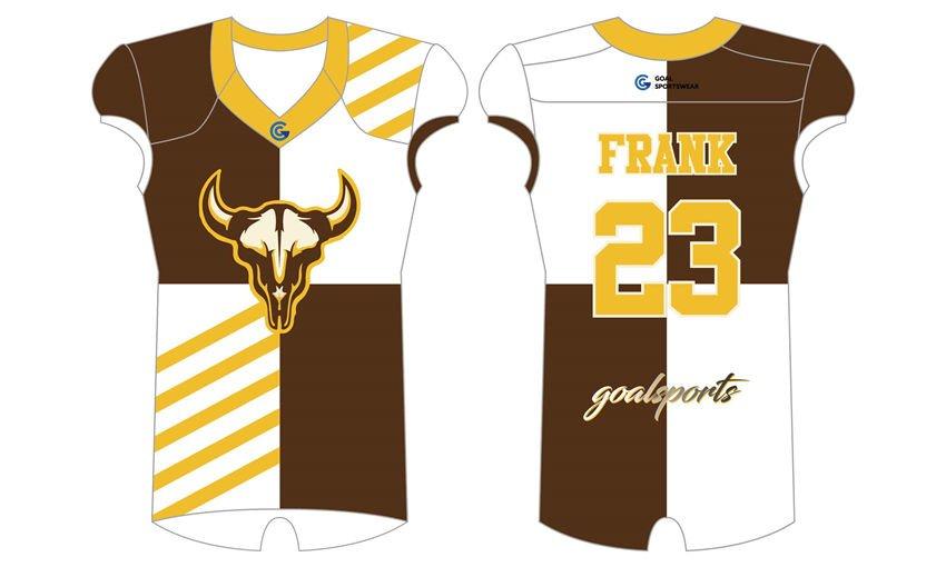 Wholesale high quality sublimation printing custom Sublimated Flag Football Jerseys
