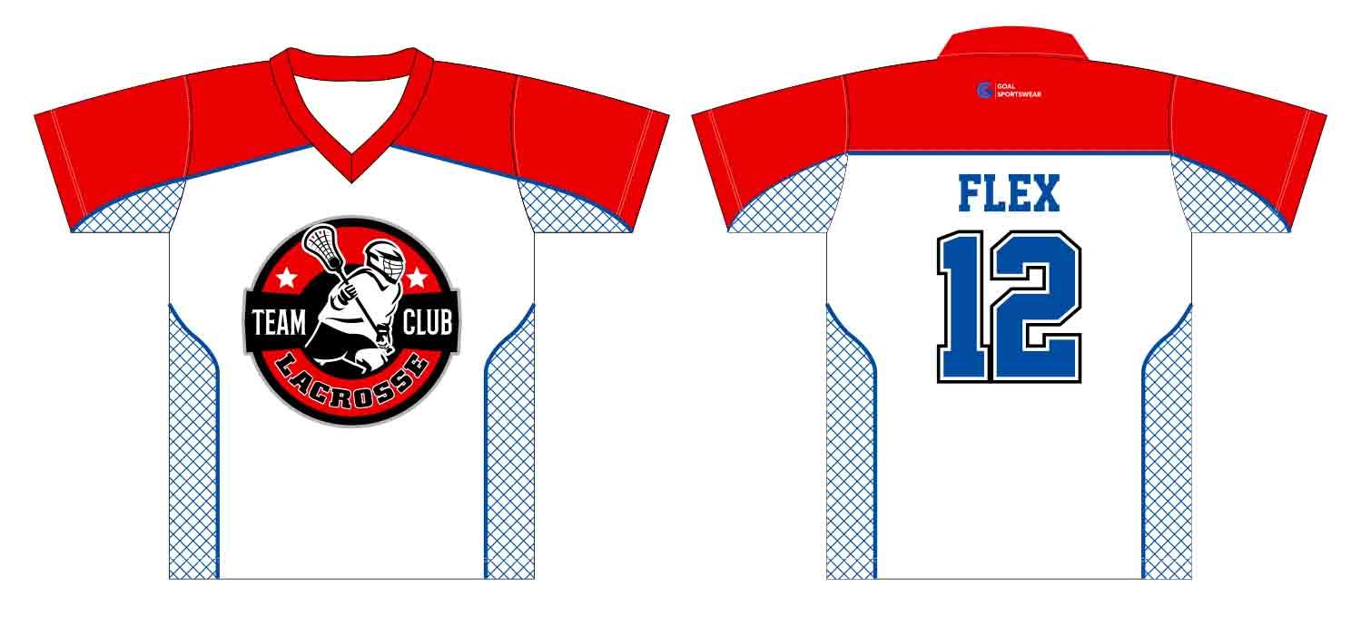 Wholesale high quality sublimation printing custom custom lacrosse shirts