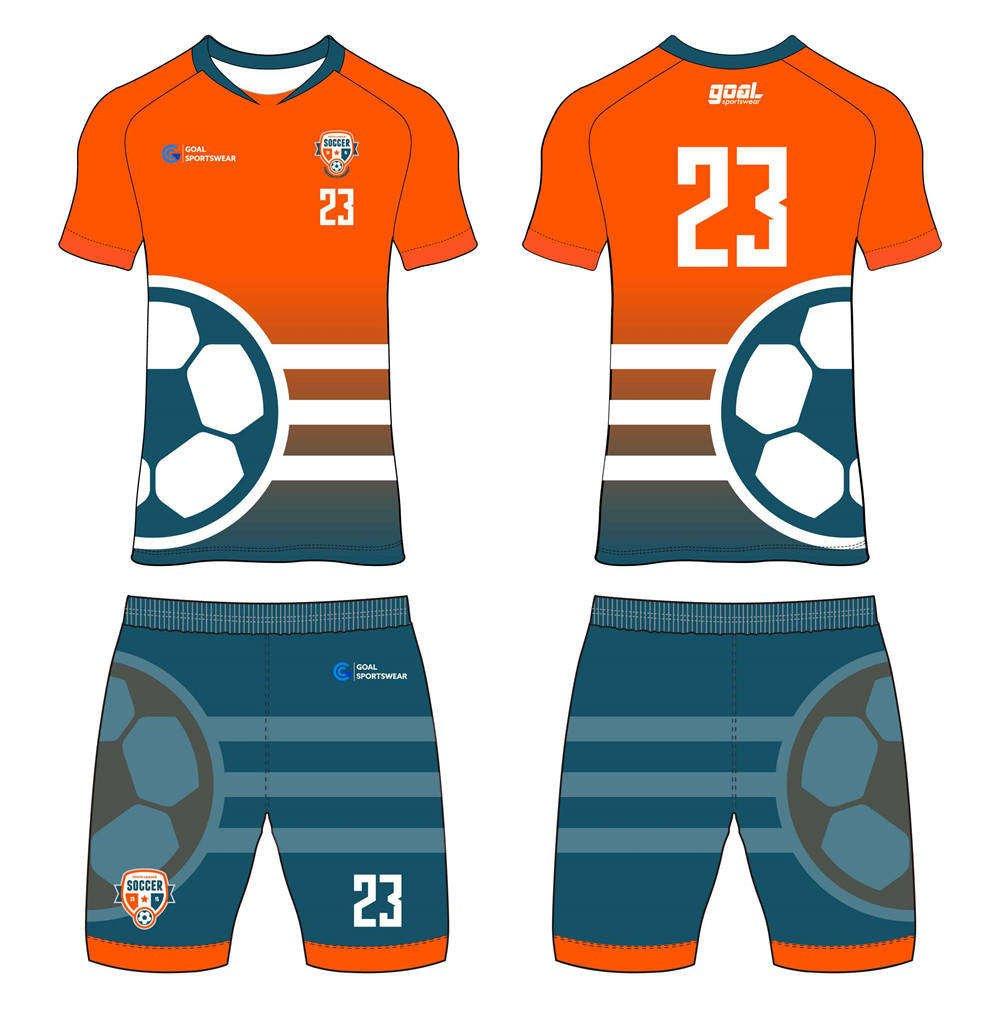 Wholesale high quality sublimation printing custom custom soccer kits
