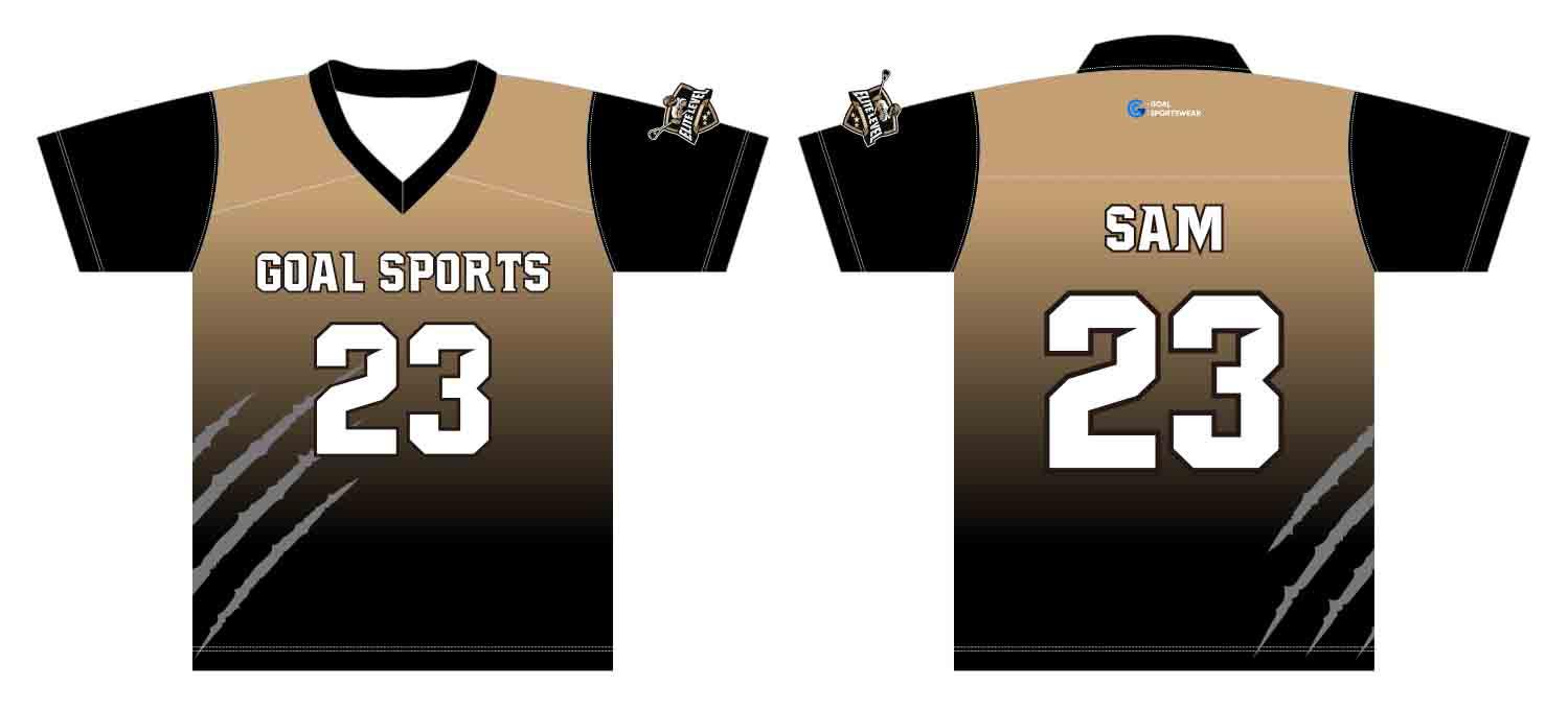Wholesale pro quality custom design sublimated kids custom lacrosse shirts