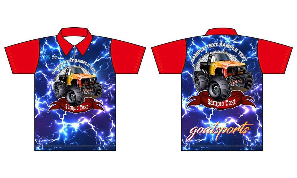 Wholesale pro quality custom design sublimated kids custom pit crew shirts