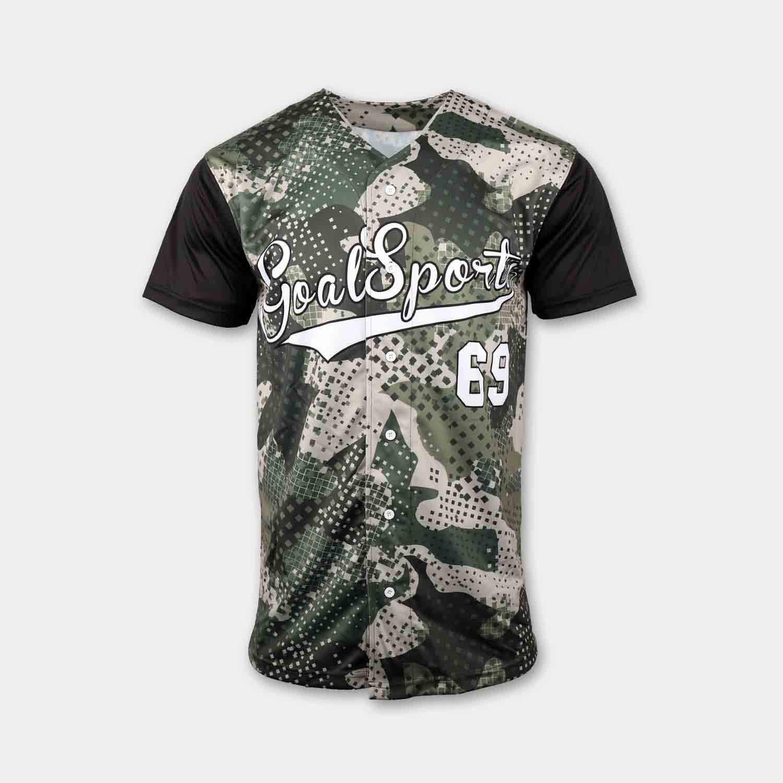 custom full button down baseball shirts front