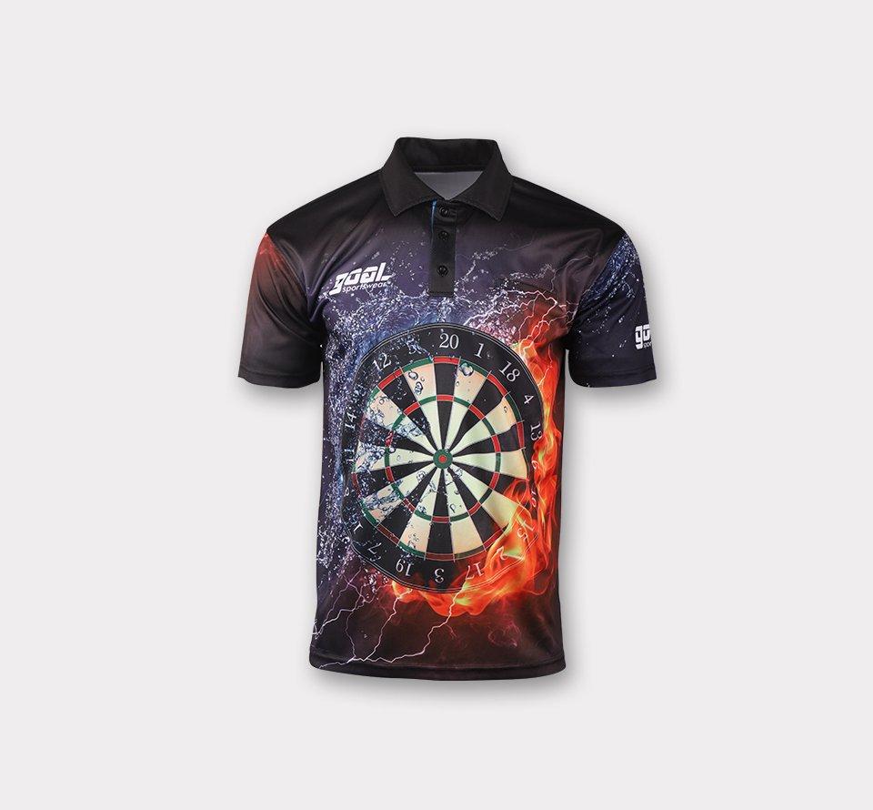sublimated darts polo shirts