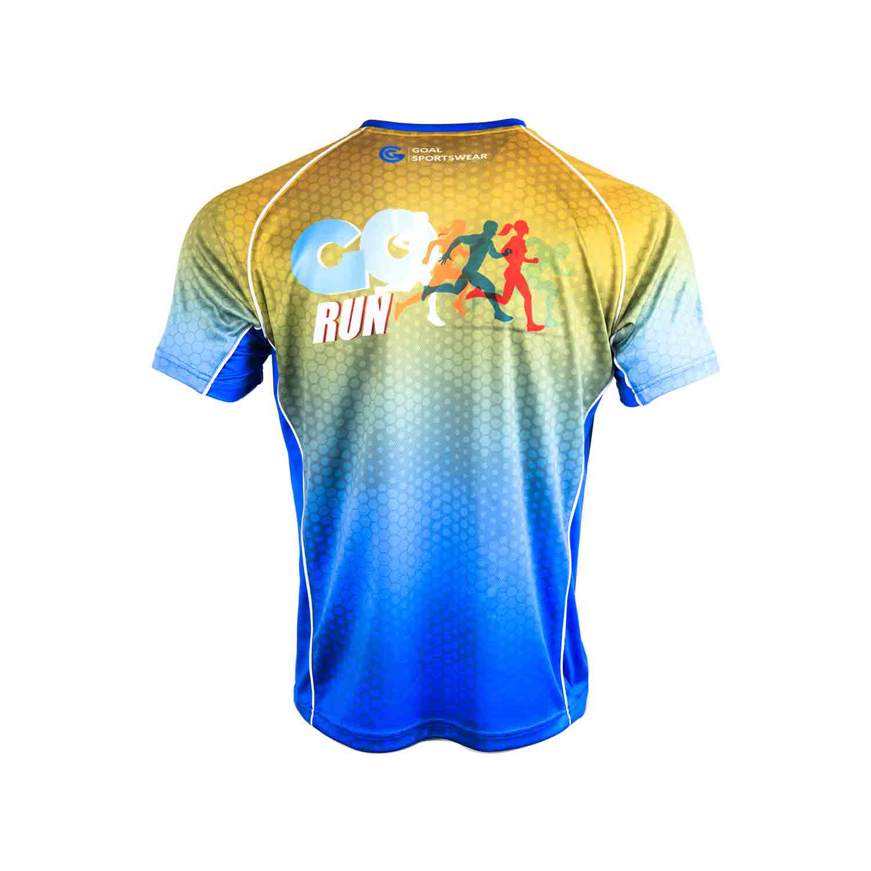 sublimation custom printed sublimated running shirts