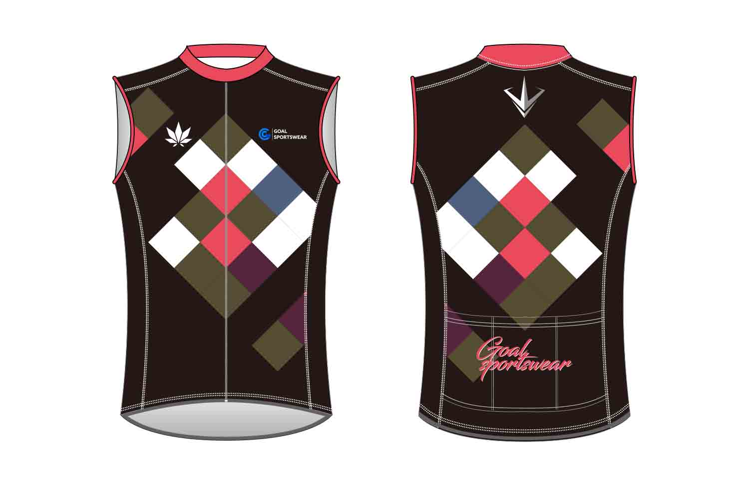 wholesale 100% polyester custom made sublimation custom Cycling Vest