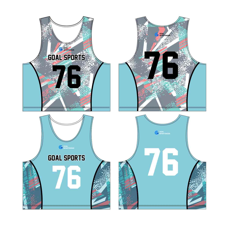 Wholesale 100% Polyester Custom Made Sublimation Custom Lacrosse Pinnies