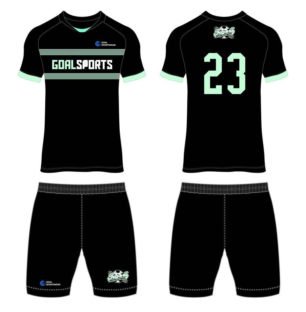 wholesale 100% polyester custom made sublimation custom soccer tops