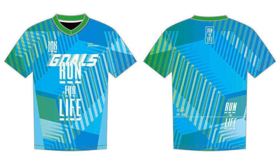 wholesale 100% polyester custom made sublimation sublimated running shirts