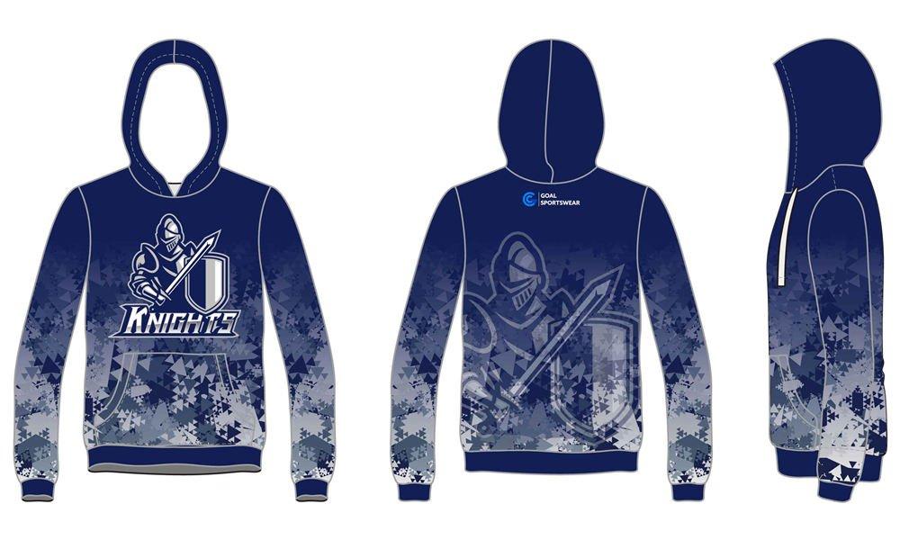wholesale 100% polyester custom printed college custom lacrosse hoodies