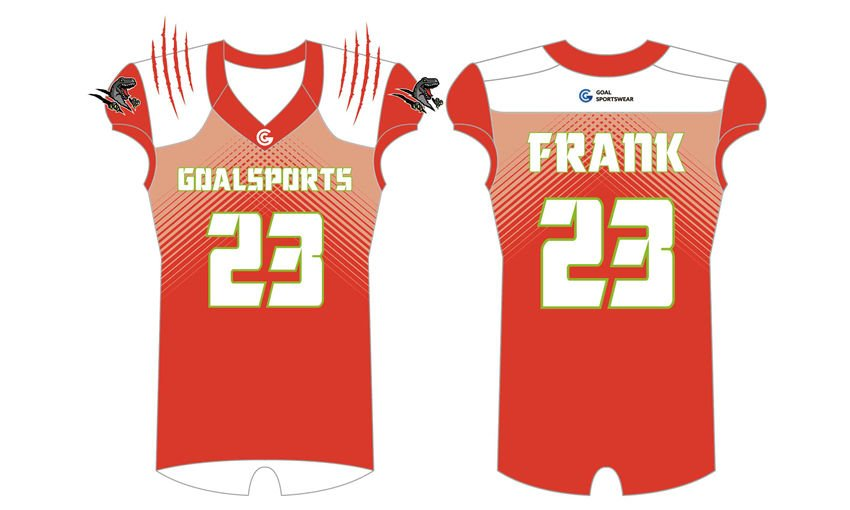 wholesale 100% polyester custom sublimated printed Sublimated Flag Football Jerseys