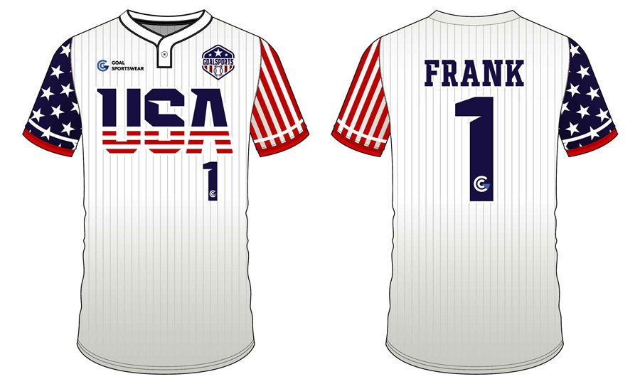 wholesale 100% polyester custom sublimated printed Two-Button Baseball Jersey