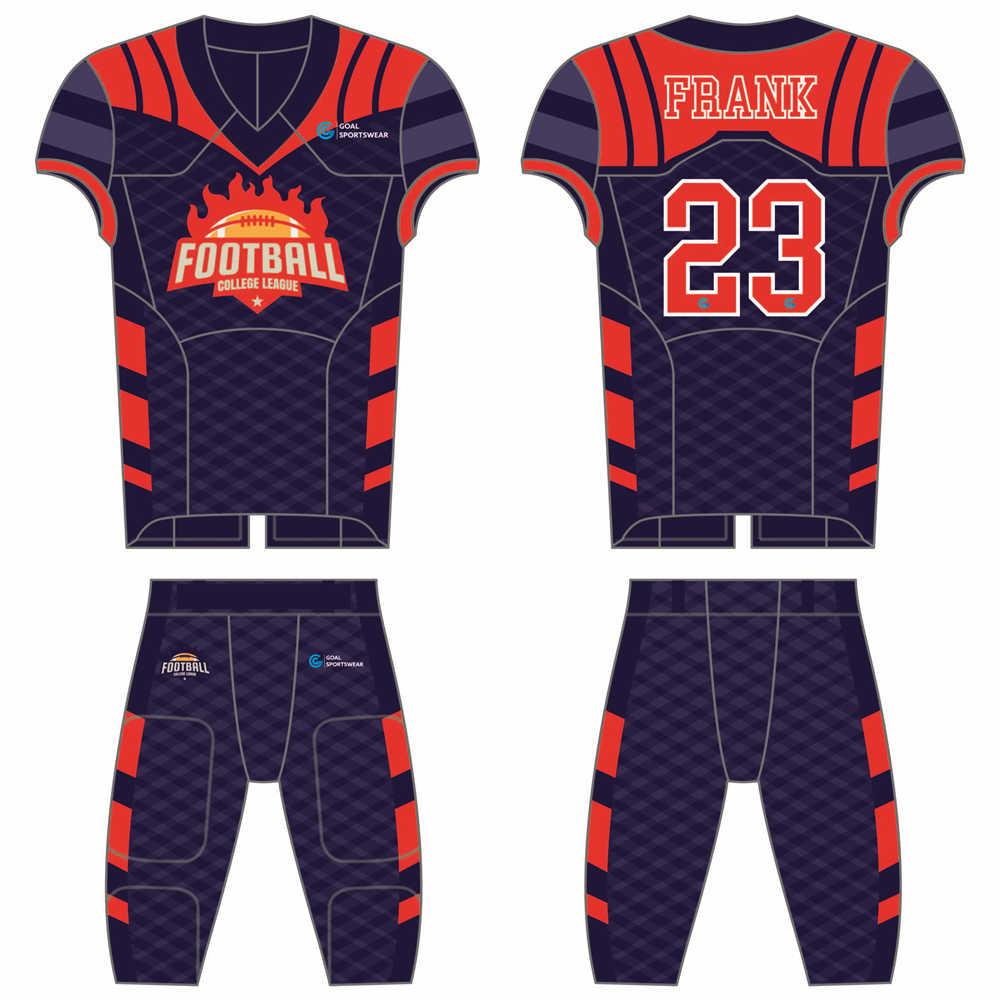 wholesale 100% polyester custom sublimated printed custom football uniforms