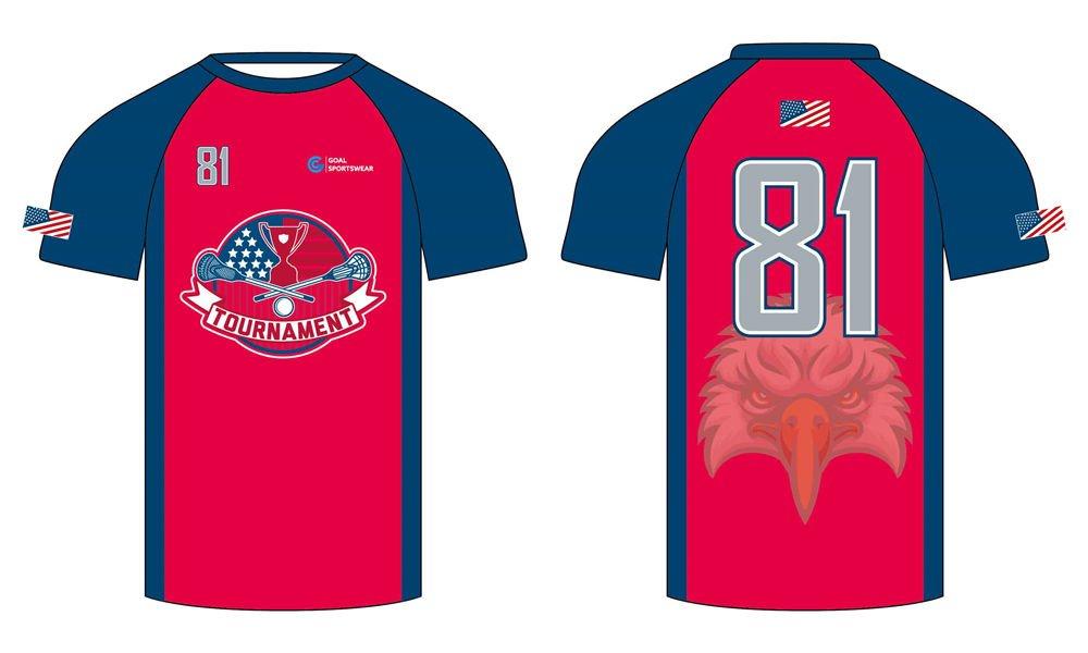 wholesale 100% polyester custom sublimated printed custom lacrosse shirts