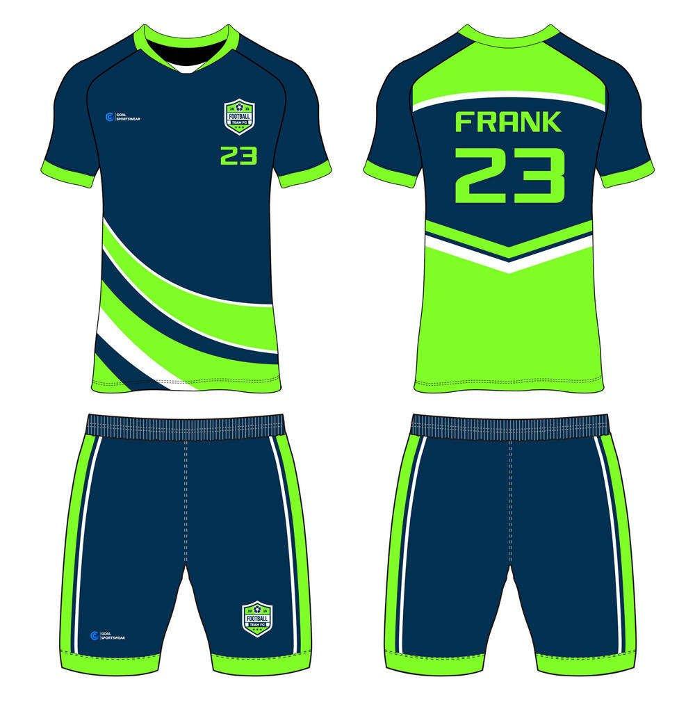 wholesale 100% polyester custom sublimated printed custom soccer kits
