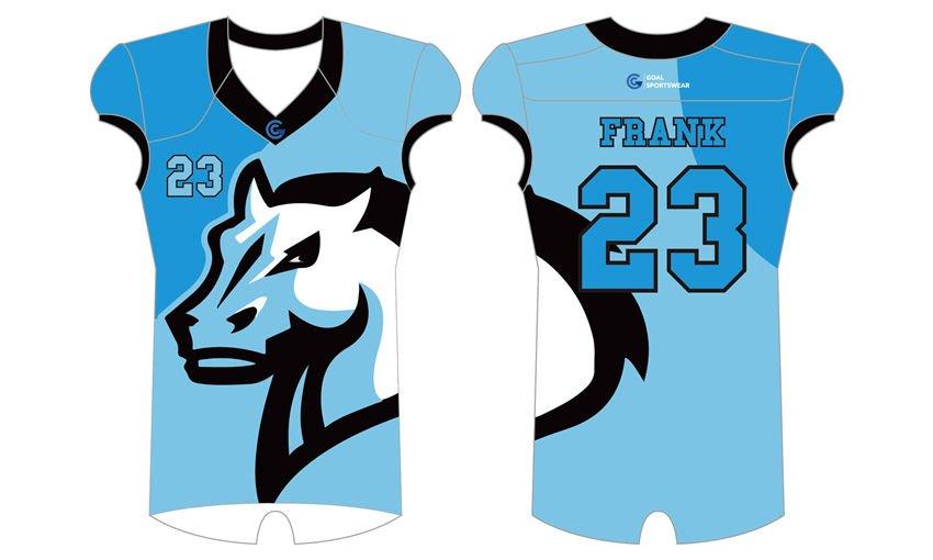 wholesale China custom design sublimation printing Sublimated Flag Football Jerseys