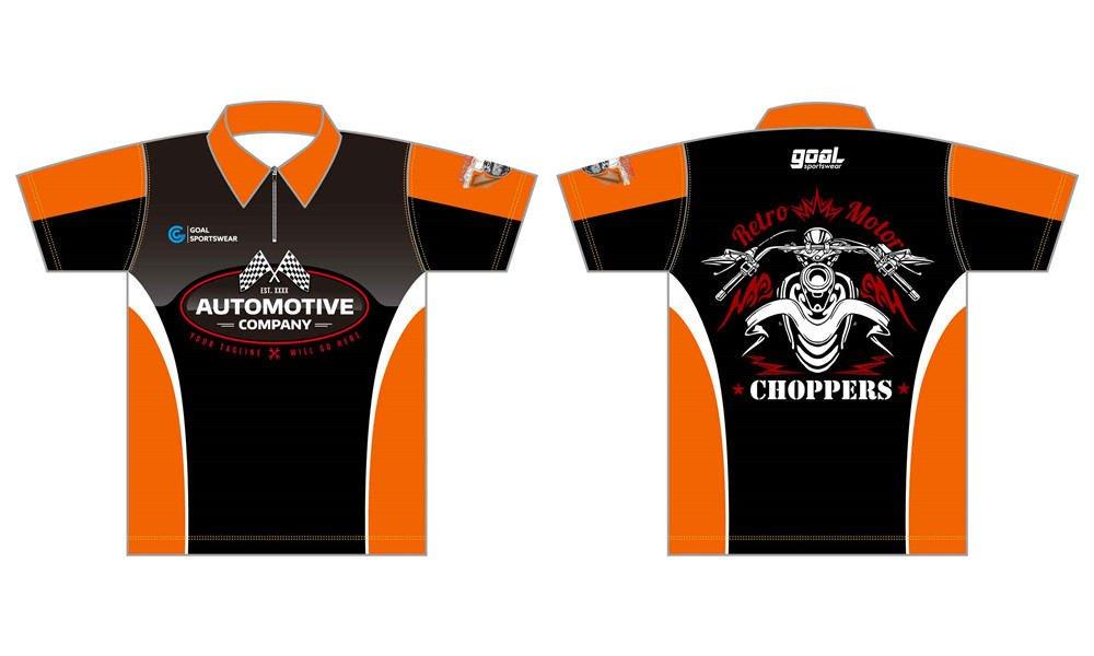 wholesale high qualtiy mens custom made custom pit crew shirts