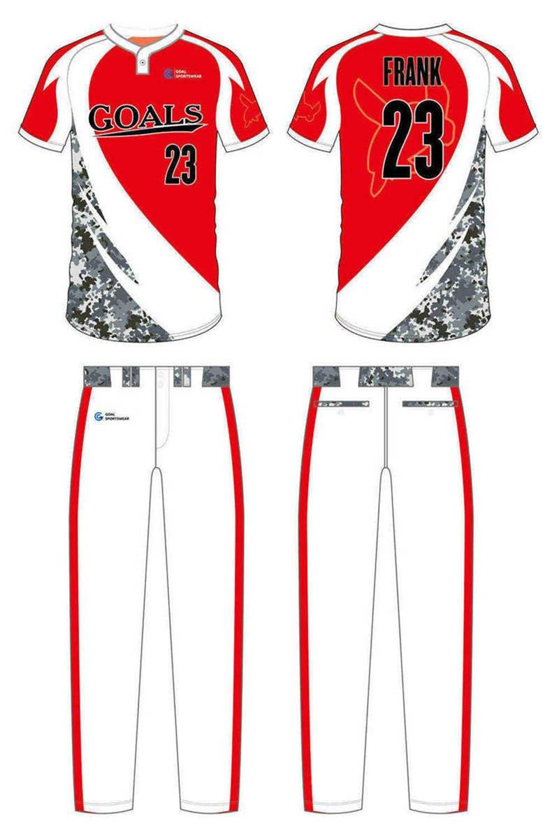 100% polyester sublimation printing custom youth team custom camo baseball jersey
