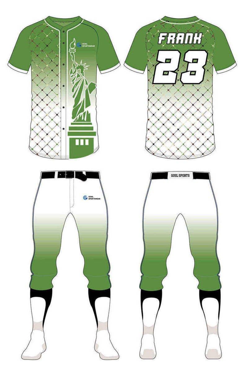 Dye sublimation printing custom design full polyester custom camo baseball jersey