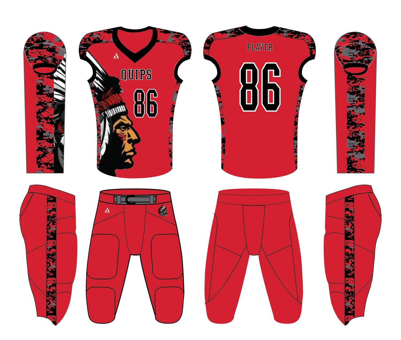 Custom football uniform