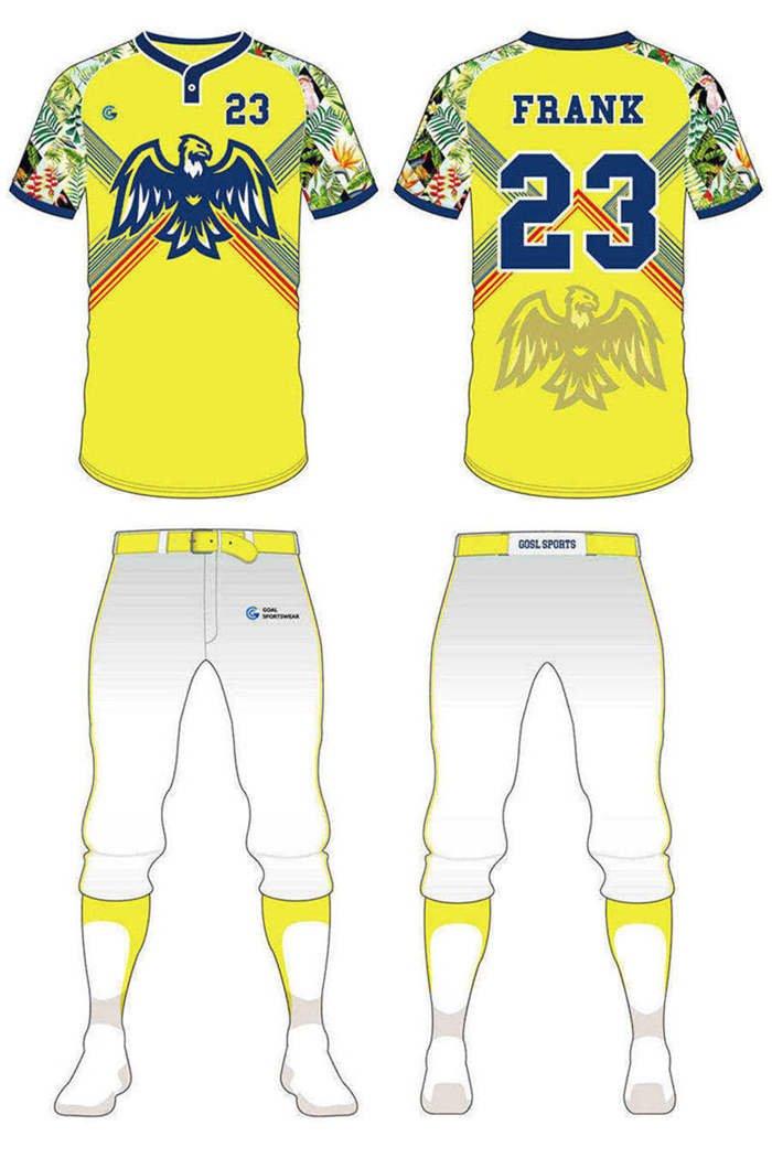 Full dye sublimation printing custom made team custom camo baseball jersey