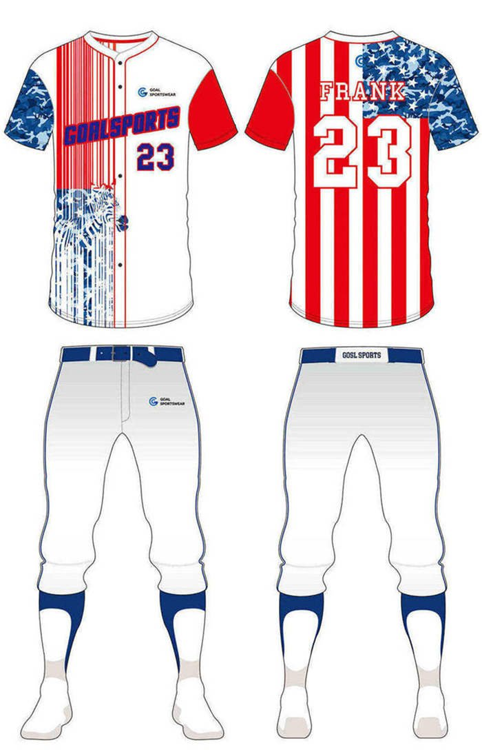 Full polyester Custom made durable mens team custom camo baseball jersey