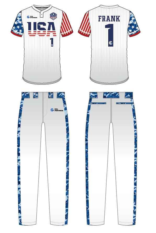 Full polyester durable sublimated custom youth team custom camo baseball jersey