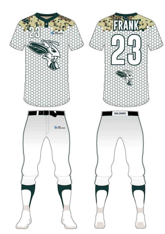 Wholesale high quality sublimation printing custom custom camo baseball jersey