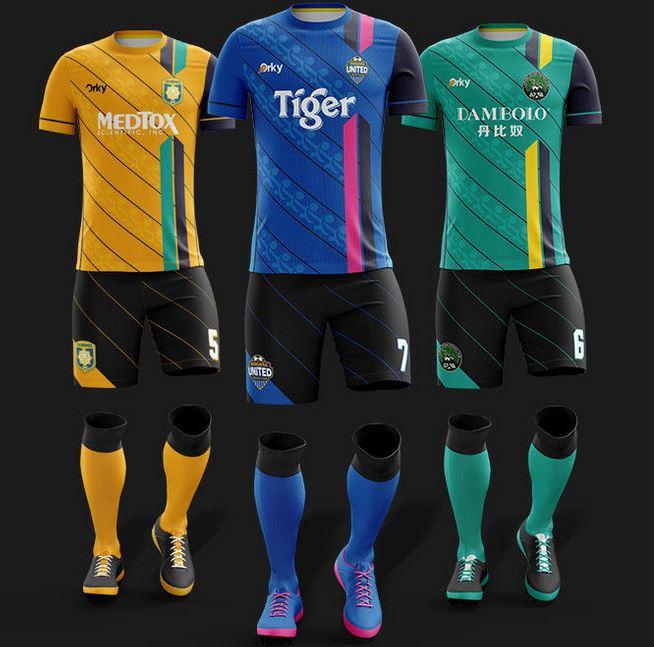 Custom soccer uniform