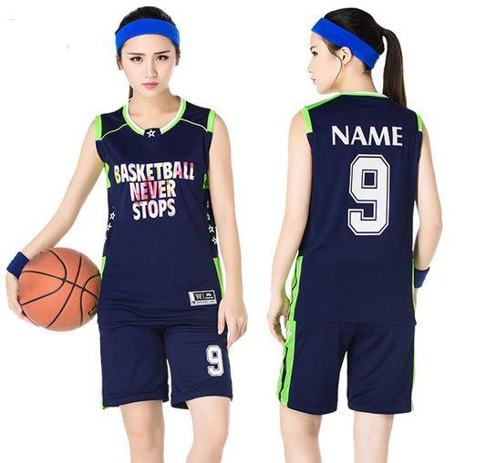 Navy blue women basketball uniform