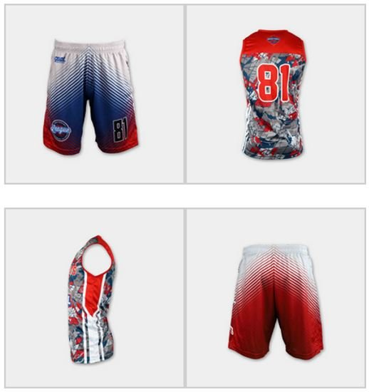 Sublimated youth basketball uniforms