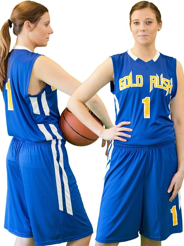 Blue basketball uniform for women