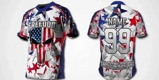 Sublimated custom men softball jersey