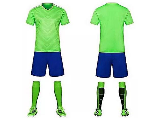 Blank soccer uniform