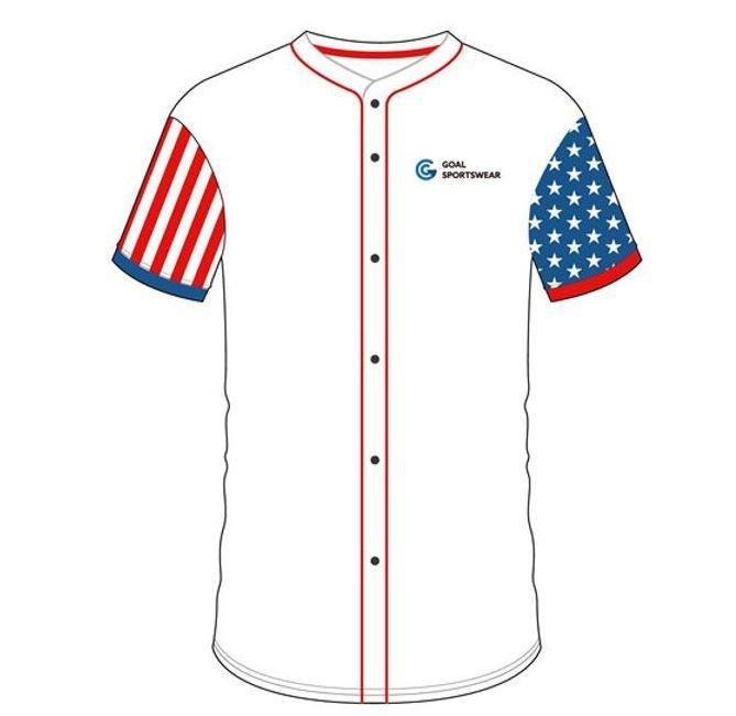 Full button baseball jersey