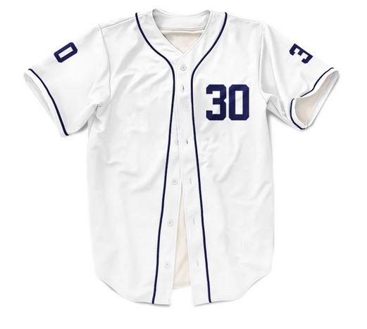 White Custom Baseball jersey